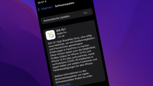 Apple war Funktionen schuldig: iOS 15.1 bringt große Neuerungen für iPad iPhone