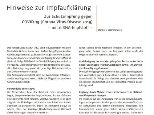 Anamnese und Einwilligung Corona Impfung (PDF)