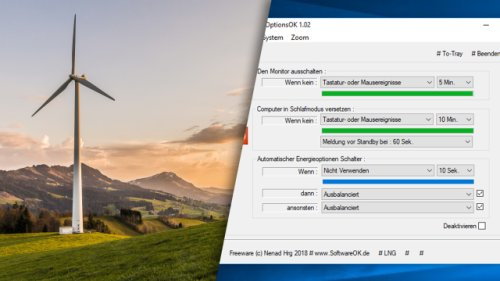 Strom sparen am PC: Gratis-Tool senkt Energieverbrauch