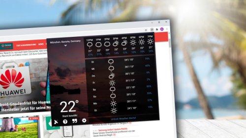Wetterbericht in schick: Empfehlenswertes Browser-Add-on kostenlos