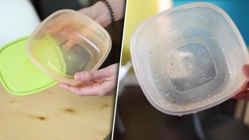 Verfärbte Tupperware im Schrank? Mit dem Zucker-Trick wird sie wieder sauber