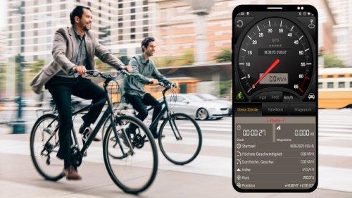 Jetzt abstauben: GPS-Tacho-App für Fahrrad Auto aktuell gratis