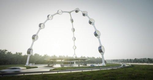 So schön können Windräder aussehen: Bilder erinnern an stark an Sci-Fi-Filme