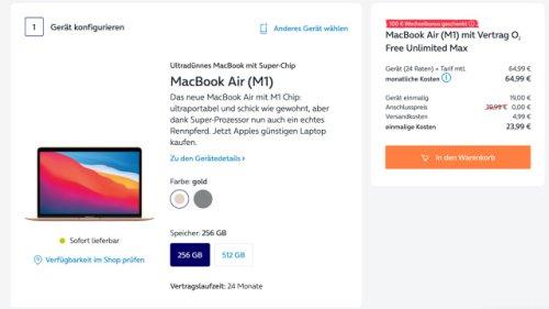 MacBook Air für 5 Euro monatlich: Power-Notebook mit Tarif zum Schnapper
