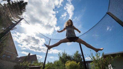 Trampolin im Garten: Nicht alles ist erlaubt