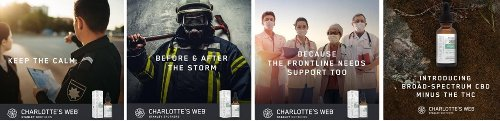 Charlotte's Web Launches THC-Free CBD Oil Tinctures to Help Frontline Heroes