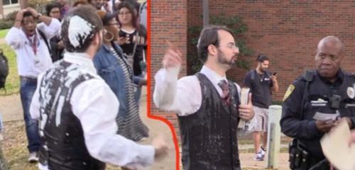 [VIDEO] Starbucks Worker Dumps Milkshake On Open Air Preachers Head