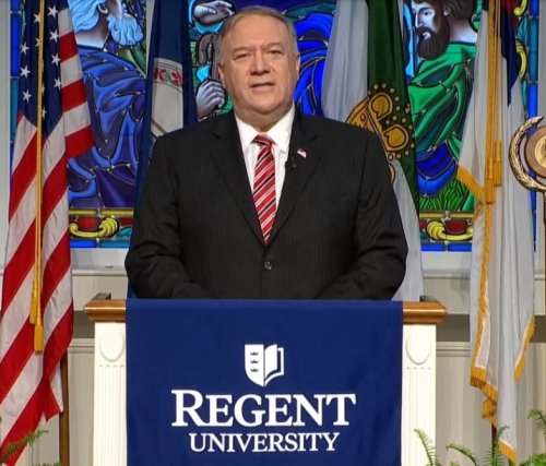Mike Pompeo tells Regent grads of 'growing threat' to religious freedom: Don't compromise your beliefs
