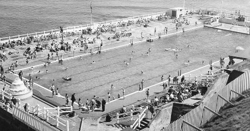 A day at Tynemouth Outdoor Pool before the location fell into slow decline