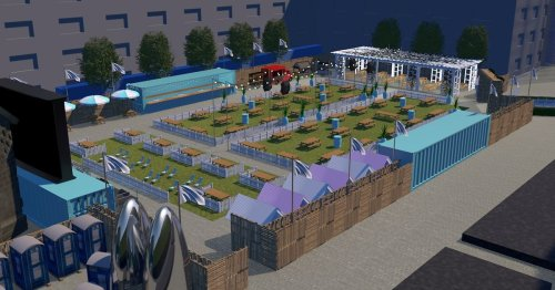 See 3D images of Newcastle's new Central Park - region's 'biggest beer garden'