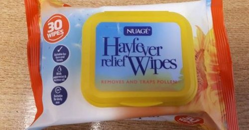 Hay fever suffers call 89p Home Bargains wipes 'amazing' cure