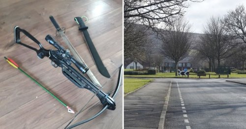Machete, sword and a crossbow seized in 'crack cocaine' bust