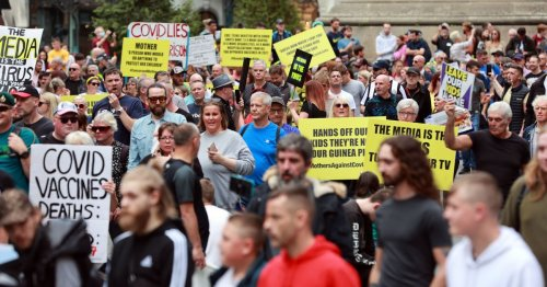 Hundreds march through Newcastle in protest over Covid vaccine passports