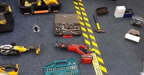 See stash of 'stolen property' found after man was seen trying car doors
