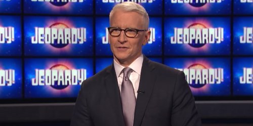 Anderson Cooper Celebrated His Jeopardy Hosting Gig With The Most Adorable Picture