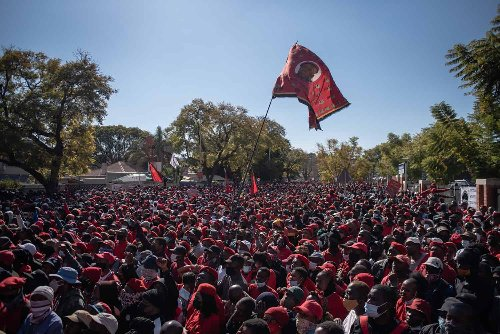 EFF march over jabs 'blatant disobedience'