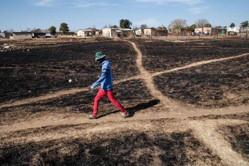Pics: Limpopo village where the ground is on fire