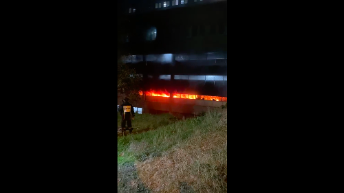 WATCH: Charlotte Maxeke hospital fire rages into the night | The Citizen