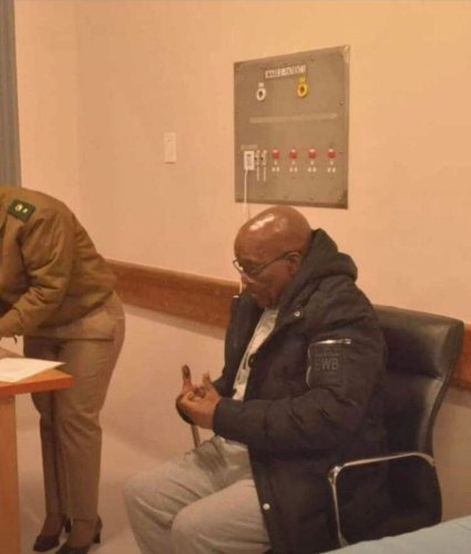 Here are the first photos of Zuma in custody