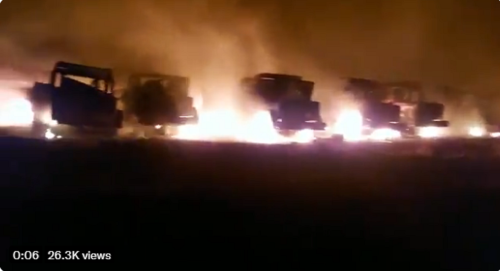 Fire destroys more than 200 military vehicles at Pretoria army base