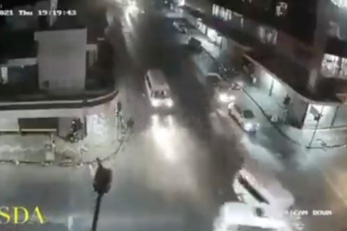 WATCH: Two taxis crash at high speed in Joburg CBD