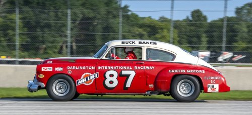 Vintage stock cars featured at Redman races at Road America