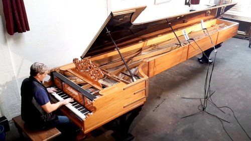 This 19-foot piano has the longest bass strings in the world – and it sounds huge