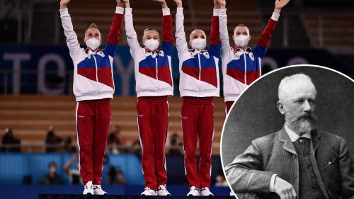 A Tchaikovsky piano concerto is being played at the Olympics instead of the Russian National Anthem. Here's why.