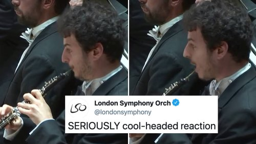 This oboe soloist's reed split mid-solo… but he recovered like an absolute pro