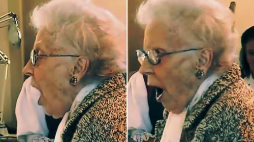 96-year-old operatic soprano with crystal clear voice sings a miraculous 'Panis Angelicus'