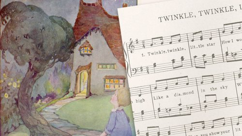 Who wrote Twinkle Twinkle Little Star, and what are the full lyrics of the popular lullaby?