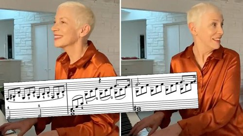 Pop legend Annie Lennox plays enchanting 'Moonlight' Sonata on her living room piano