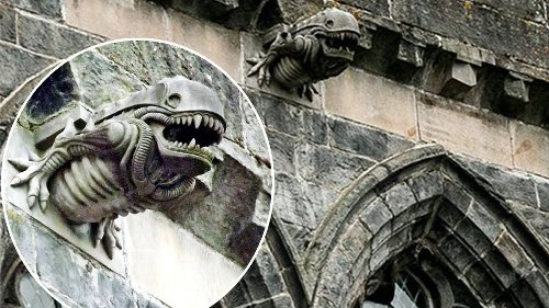 The time an 'Alien' gargoyle appeared on an ancient abbey and blew up the Internet