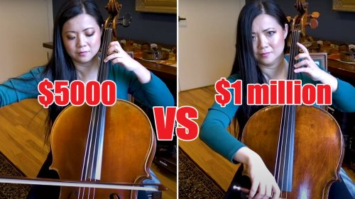 Can you hear the difference between a $1 million cello and $5,000 cello?