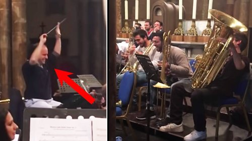 Orchestra interrupts Prokofiev with Star Wars 'Imperial March' in hilarious prank on conductor