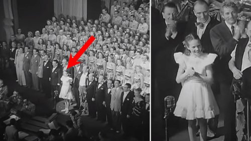 The time 13-year-old Julie Andrews sang the national anthem for the King and Queen