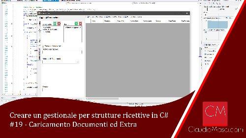 Creare un gestionale per strutture ricettive in C# – 19 – Caricamento Documento ed Extra