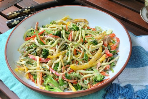 Tahini-ginger noodle salad is the answer to zucchini overload