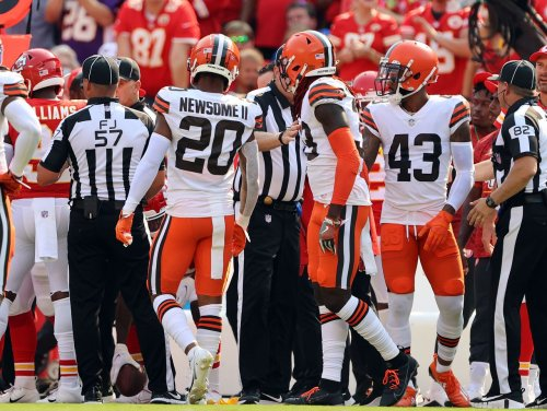 Browns safety Ronnie Harrison fined $12,128 for shoving Chiefs assistant Greg Lewis