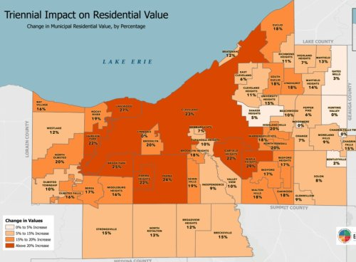 These 11 Cuyahoga County cities saw the largest increases in home values in 2021 appraisal