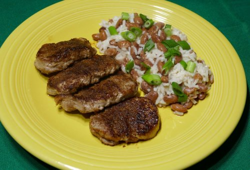 Spicy jerk pork pairs well with coconut-flavored rice
