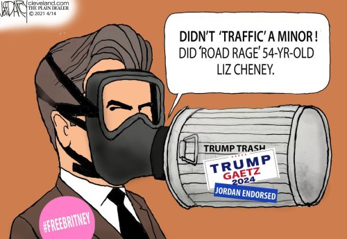 Rep Matt Gaetz Trump mask tested: Darcy cartoon