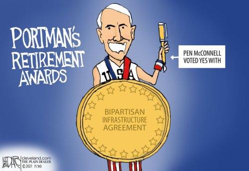 Portman delivers Infrastructure Deal: Darcy cartoon