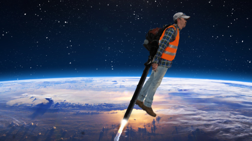 The Race Is Over: This Man Who Pointed A Leaf Blower Downward At Full Blast Has Beaten NASA And SpaceX To Mars