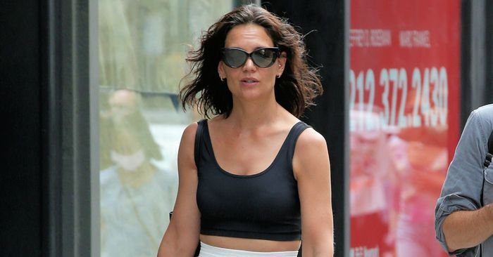Katie Holmes Wore Every Fashion Person's Favorite Revealing Trend