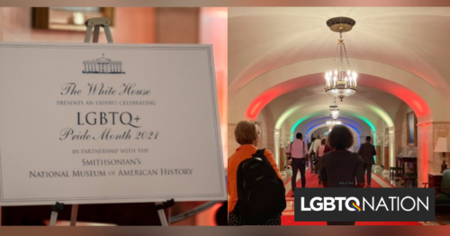 The White House installs an exhibit with LGBTQ artifacts & history for Pride Month