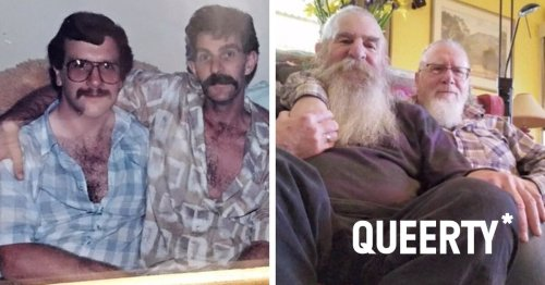 Gay couple's photos taken 35 years apart go viral on Twitter