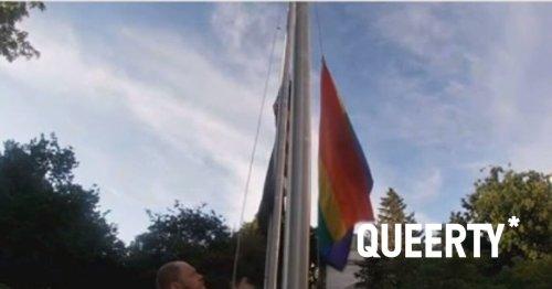 Homophobic flat-Earther breaks down in tears during pride flag trial