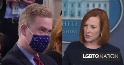 Jen Psaki pounds Fox reporter who compares Biden to Trump