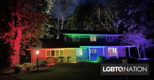 The homeowners association told them couldn't fly a Pride flag. So they did this instead.